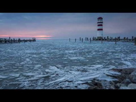 Winter Ice Mood with Gold-N-Blue Polarizer and Big Stopper in Podersdorf, Neusiedlersee