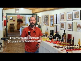 Environmental Portraits, Ambient & Strobes Light on Location